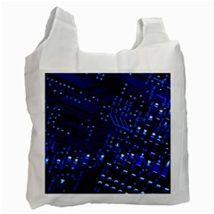 Blue Circuit Technology Image Recycle Bag (One Side)