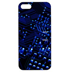 Blue Circuit Technology Image Apple iPhone 5 Hardshell Case with Stand