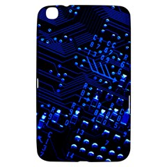 Blue Circuit Technology Image Samsung Galaxy Tab 3 (8 ) T3100 Hardshell Case