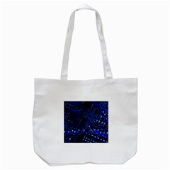 Blue Circuit Technology Image Tote Bag (White)