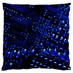 Blue Circuit Technology Image Standard Flano Cushion Case (Two Sides)