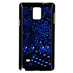 Blue Circuit Technology Image Samsung Galaxy Note 4 Case (Black)