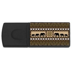 Elephant African Vector Pattern USB Flash Drive Rectangular (2 GB)