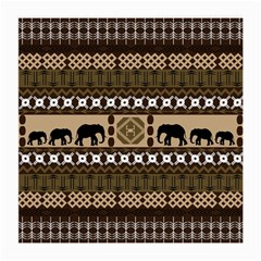 Elephant African Vector Pattern Medium Glasses Cloth (2-Side)