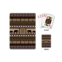 Elephant African Vector Pattern Playing Cards (Mini)