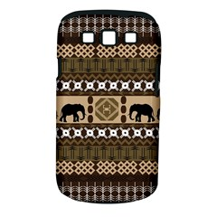 Elephant African Vector Pattern Samsung Galaxy S III Classic Hardshell Case (PC+Silicone)