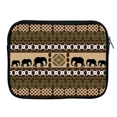 Elephant African Vector Pattern Apple iPad 2/3/4 Zipper Cases