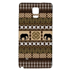 Elephant African Vector Pattern Galaxy Note 4 Back Case