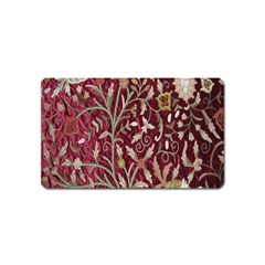 Crewel Fabric Tree Of Life Maroon Magnet (Name Card)