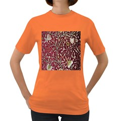 Crewel Fabric Tree Of Life Maroon Women s Dark T-Shirt