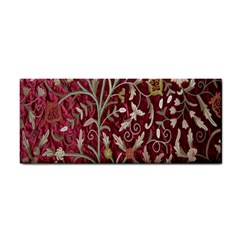 Crewel Fabric Tree Of Life Maroon Cosmetic Storage Cases