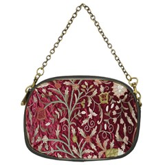 Crewel Fabric Tree Of Life Maroon Chain Purses (Two Sides)