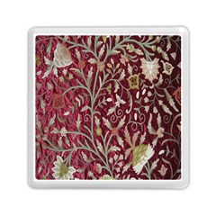 Crewel Fabric Tree Of Life Maroon Memory Card Reader (Square)
