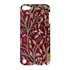 Crewel Fabric Tree Of Life Maroon Apple iPod Touch 5 Hardshell Case