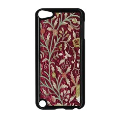 Crewel Fabric Tree Of Life Maroon Apple iPod Touch 5 Case (Black)