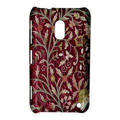 Crewel Fabric Tree Of Life Maroon Nokia Lumia 620