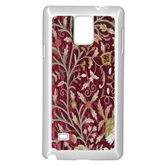 Crewel Fabric Tree Of Life Maroon Samsung Galaxy Note 4 Case (White)