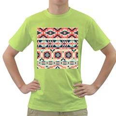 Aztec Pattern Green T-Shirt