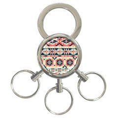 Aztec Pattern 3-Ring Key Chains