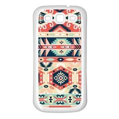 Aztec Pattern Samsung Galaxy S3 Back Case (White)