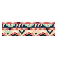 Aztec Pattern Satin Scarf (Oblong)