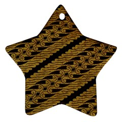 Traditional Art Indonesian Batik Star Ornament (Two Sides)