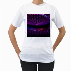 Glass Ball Texture Abstract Women s T-Shirt (White) (Two Sided)