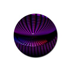 Glass Ball Texture Abstract Rubber Round Coaster (4 pack)