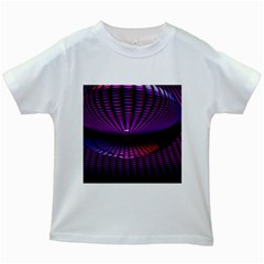 Glass Ball Texture Abstract Kids White T-Shirts