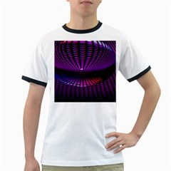 Glass Ball Texture Abstract Ringer T-Shirts