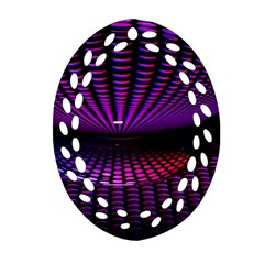 Glass Ball Texture Abstract Ornament (Oval Filigree)