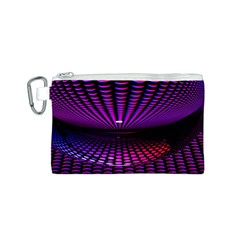 Glass Ball Texture Abstract Canvas Cosmetic Bag (S)