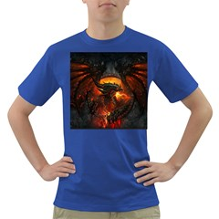 Dragon Legend Art Fire Digital Fantasy Dark T-Shirt