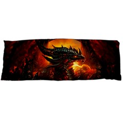 Dragon Legend Art Fire Digital Fantasy Body Pillow Case (Dakimakura)