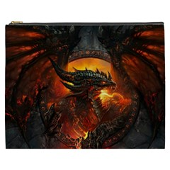 Dragon Legend Art Fire Digital Fantasy Cosmetic Bag (XXXL)