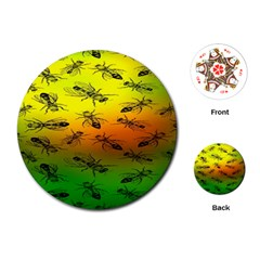 Insect Pattern Playing Cards (Round)