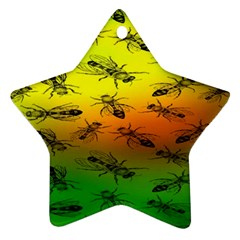 Insect Pattern Star Ornament (Two Sides)