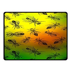 Insect Pattern Fleece Blanket (Small)