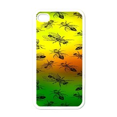Insect Pattern Apple iPhone 4 Case (White)