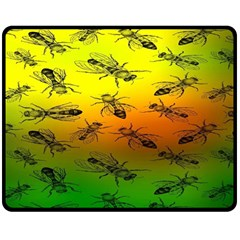 Insect Pattern Double Sided Fleece Blanket (Medium)