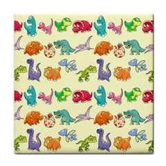 Group Of Funny Dinosaurs Graphic Tile Coasters