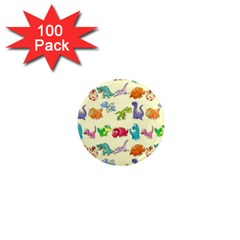 Group Of Funny Dinosaurs Graphic 1  Mini Magnets (100 pack)