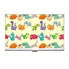 Group Of Funny Dinosaurs Graphic Business Card Holders