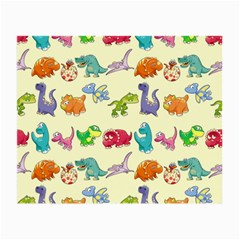 Group Of Funny Dinosaurs Graphic Small Glasses Cloth