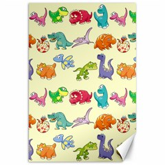 Group Of Funny Dinosaurs Graphic Canvas 20  x 30