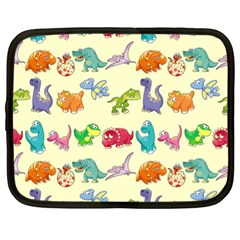 Group Of Funny Dinosaurs Graphic Netbook Case (XL)