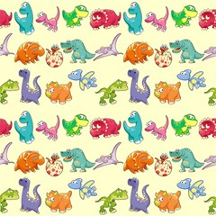 Group Of Funny Dinosaurs Graphic Magic Photo Cubes