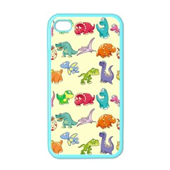 Group Of Funny Dinosaurs Graphic Apple iPhone 4 Case (Color)