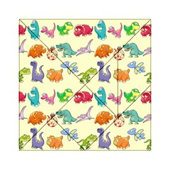 Group Of Funny Dinosaurs Graphic Acrylic Tangram Puzzle (6  x 6 )
