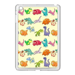 Group Of Funny Dinosaurs Graphic Apple iPad Mini Case (White)